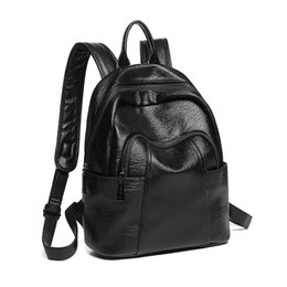 $enCountryForm.capitalKeyWord Australia - Top Quality Real Genuine Soft Leather Vogue Large Capacity Backpack Little Bear Pendant Decoration Women Girls Ladies Love Back Pack bags