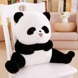 Cute Stuffed Animal Pig Australia - Baby Cartoon Cushion Plush Stuffed Doll 48cm 53cm Kids Cushion Lumbar Pillow Sleep Pillow Cartoon Cute Animal Toys Panda Pig Bear