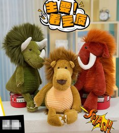 Toy Holders NZ - 3pcs 22 # factory sells forest animal series plush toys, long hair monster dolls, lovely dolls, pillow holders, holiday gifts 35cm