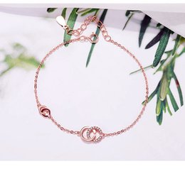 $enCountryForm.capitalKeyWord Australia - 2019 European and American fashion new ladies 925 sterling silver bracelet couple jewelry temperament rose gold letter bracelet free shippin