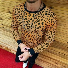 Leopard Print Goods Australia - good quality 2019 Top Brand Men's T-shirt Leopard Print Long-sleeve Beefy Muscle Basic Solid Tee Shirt Top Funny Mens Clothing