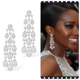 brazil earrings Australia - jankelly Trendy clear white Water Drop Cubic Zirconia WomenTassel Earring Brazil Style Drop Earring Brincos Bijoux Gifts SH190930
