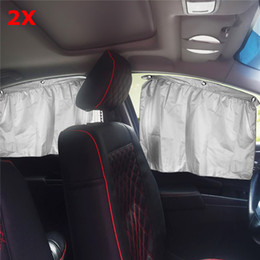 car window foil NZ - 2Pcs Universal Sucker Car Sunshade Curtains Sun Shade Visor Foils Solar Sun Protection Car Window Curtain Sunscreen Insulation