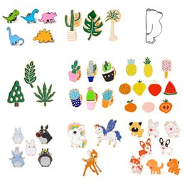 $enCountryForm.capitalKeyWord Australia - 50 Styles Enamel Dog unicorn Plant Brooch Shirts Coat Lapel Bag Pins Badge Fashion Jewelry for Women Men Kids Christmas Gift
