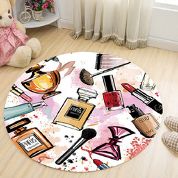 $enCountryForm.capitalKeyWord Australia - Fashion Living room dining room small fresh 3D round carpet coffee table mat prayer mat computer chair non-slip carpet pet