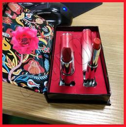 $enCountryForm.capitalKeyWord Australia - 2019 Famous Makeup Lip set Matte lipstick 2 color lip kit 2pcs cherry Lipstick lip balm with red box free shipping