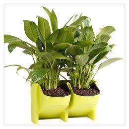 $enCountryForm.capitalKeyWord Australia - Vertical Wall Planter Self Watering Hanging Garden Flower Pot Planter for Indoor Outdoor Garden Supplies Stackable 2 Pocket
