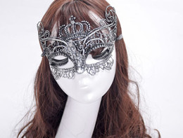 Elegant Ball Masks Australia - 2019 Elegant Metal Laser Cut Venetian Halloween Ball Masquerade Luxury Crown Mask Women Lace Mask For Halloween