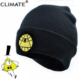 $enCountryForm.capitalKeyWord Australia - CLIMATE Gravity Falls Bill Winter Warm Knit Beanie Skullies Hat Caps Adult Boy Dipper Mabel Bill Black Cool Men Acrylic Knit Hat