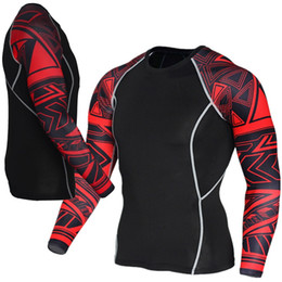 $enCountryForm.capitalKeyWord NZ - Mens Fitness Long Sleeves Rashguard T Shirt Men Bodybuilding Skin Tight Thermal Compression Shirts MMA Crossfit Workout Top Gear #604251