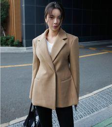 $enCountryForm.capitalKeyWord NZ - SuperAen 2018 Winter Wool Women Jacket Solid Color Long Sleeve Wild New Ladies Suits Jacket Korean Style Women Clothing