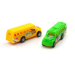 Discount toy buses for children - Pull Back Cartoon Car Toys Racing Car Model Mini Cars Bus Fairy Action Figure Truck Baby Kids Toys For Children Boy Gift