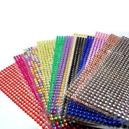 5pcs Bling Sticker Gem Sparkle Strip Sticker Adhesive Stick on Crystals
