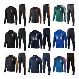 Jerseys mexico teams online shopping - 2019 World Cup national team quality new Dutch Brazil Mexico football jacket season jersey football training uniforms