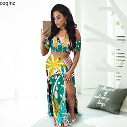 match tops skirt NZ - Plus Size Summer 2020 Two Piece Set Crop Top And Skirt Set 2 Piece Set Women Club Outfits Matching Sets Ensemble Femme A6208 T200623