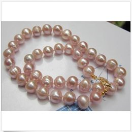 "Chinese  18""L 11-12MM SOUTH SEA NATURAL PINK PEARL NECKLACE 14K GOLD CLASP c manufacturers"