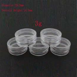 $enCountryForm.capitalKeyWord Australia - 100 x 3g empty clear plastic jar , plastic Mini transparent pot for nail art ,small round cream sample cream cosmetic container