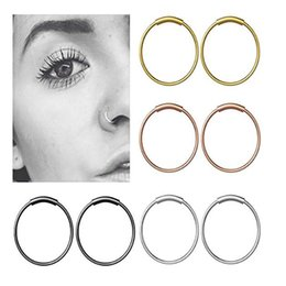 $enCountryForm.capitalKeyWord Australia - TIANCIFBYJS Steel Hinged Clicker Seamless Piercing Nose Ring Hoop Lip Ear Ring-6 8 10mm Body Jewelry Piercing Clip Gift 1pcs 22g