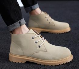 0d419d16a526 Winter fashion wild big shoes men s retro high-top men s shoes Korean  version of the trend outdoor ins men s boots