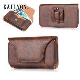 samsung note genuine leather NZ - Luxury Genuine Leather Men Waist Bag Clip Belt Pouch Holster Case For Samsung Galaxy A3 A5 A7 A8 S6 S7 S8 Plus J3 J5 J7 Note 8