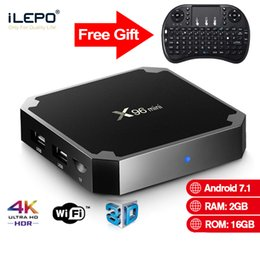 Android quAd core Air mouse online shopping - X96 mini Smart Android TV box GB GB G WiFi Media player S905W Air Mouse Keyboard Gift Quad Core Set Top boxes