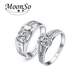 $enCountryForm.capitalKeyWord Australia - Moonso Couple Ring Sets for Men and Women Luxury 1 Pair Sets Wedding Jewelry Moonso R208