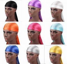 $enCountryForm.capitalKeyWord Australia - New Hot Fashion Men's Satin Durags Bandana Turban Wigs Men Silky Durag Headwear Headband Pirate Hat Hair Accessories