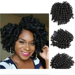 marley kinky braid hair UK - A Wand Curl Bouncy Twist Afro Kinky Twist Freetress Crochet Braids Fluffy Marley Hair Jamaican Twist Bouncy Curl Hair Extensions