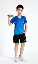 Sportswear T Shirt Badminton Australia - Children Tennis Clothes Sportswear Boy Sports Shirt Table Tennis Sets Girl Quick Dry Badminton Clothes Sports T Shirts Suit