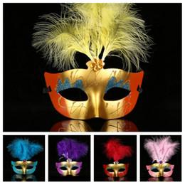 $enCountryForm.capitalKeyWord Australia - hot Halloween Party Masks Masquerade Masked ball Venice Carnival Mardi Gras Wedding mask feather fox mask T2I5211