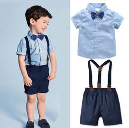 f8ab7e189 Ropa de diseño para niños Chicos Trajes de caballero Ropa de manga corta  para niños pequeños Tops Pantalones cortos Pantalones Pajarita Y Tirantes  en la ...