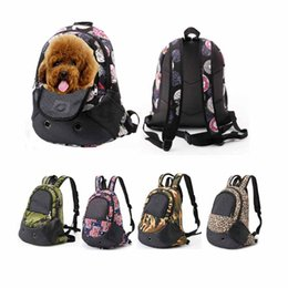 Bags Carry Puppies Australia - Pet Backpack Canvas Spring Outdoor Travel Small Dog Carrier Bag Backpack Breathable Zipper Shoulder Carry Bag Puppy Cat Bag