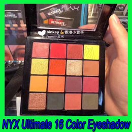 nyx eye shadow Australia - .2019 Newest NYX Ultimate Eye shadow Palette 16 Color Matte Eyeshadow Eye Make up With high quality free shipping