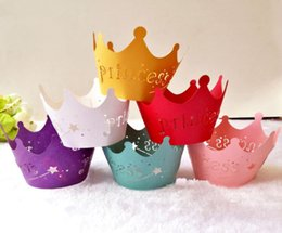 $enCountryForm.capitalKeyWord Australia - 2019 Hollow out Crown Paper Cup Lace Laser Cut Cupcake Wrapper Liner Baking Cup Muffin Cupcake For Wedding Birthday Party