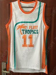 d26041d8b Cheap wholesale Ed Monix Jersey Flint Tropics Semi Pro Movie Teal Green  White Jersey Customize any name number MEN WOMEN YOUTH basketball