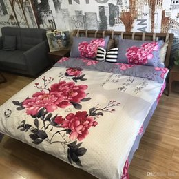 painting quilts UK - 6 Styles 3D Flower Printing 4pcs Suit Bedding Sets Oil Painting Quilt Cover Luxury Sheet Home Textile Bedding sets CCA10196 12pcs