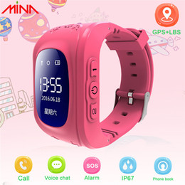 gps tracker for kids wholesale Canada - Q50 Kids Smart Watch GPS Location Tracker SOS Call Anti-lost Remote Monitor Wristband For Android Smartphone Free Shipping