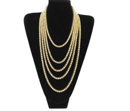 Мужская хип-хоп 1-строка сплава ожерелье все воды дрель однорядные ожерелье европейских и американских популярных ювелирных изделий
