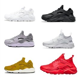 3bfbc2b78c980 New Design 2019 Air Huarache 1.0 4.0 Men Running Shoes Cheap Stripe Red  Balck White Rose Gold Women Trainer Shoes Sport Sneakers
