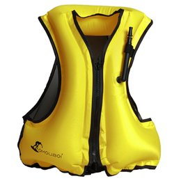 swim floats for adults NZ - Adult Inflatable Swim Vest Life Jacket for Snorkeling Floating Device Swimming Drifting Surfing Water Sports Life Saving