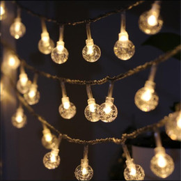 outdoor patio string lights globe UK - 7.5m 50 Festoon Led Globe Bulb Led String Lights Outdoor Waterproof Led Crystal Ball String Garland Party Wedding Backyard Patio