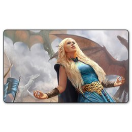 silent mouse NZ - Many Choice Game of Thrones Daenerys Targaryen Playmat, Mother of Dragons Big Mouse Pad With Gift Bag 35x60 cm