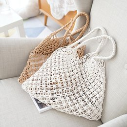 $enCountryForm.capitalKeyWord Australia - Vintage Women Bag Large Straw Bag Handmade Crochet Braid Fringed Knitted Handbag Beach Bohemian Woman Shoulder Messenger