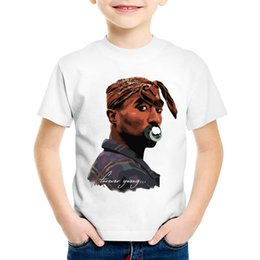 $enCountryForm.capitalKeyWord NZ - Fashion Print Tupac 2pac Children T-shirts Kids Hip Hop Swag Summer Short Sleeve Tees Boys Girls Casual Tops Baby Clothes,HKP287
