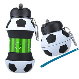 $enCountryForm.capitalKeyWord UK - 2019 Outdoor Football Soccer Baskwtball Ball Foldable Lovely Kids Students Sports Silicone Collapsible Water Bottle BPA Free For Camping