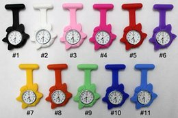 free nurses watch UK - Free shipping flowers face silicon Watch Pocket Watches Proffesional Watch