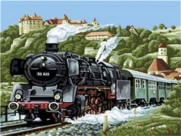$enCountryForm.capitalKeyWord Australia - 16x20 inches Time Trains Came From The Mountains DIY Paint By Numbers Kits On Canvas Art Acrylic Oil Painting