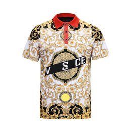 Chinese  Fashion Designer Men Polo Shirt T Shirts Short Sleeved Medusa Polo T-shirt Embroidery Letter Mens Polos 3XL manufacturers