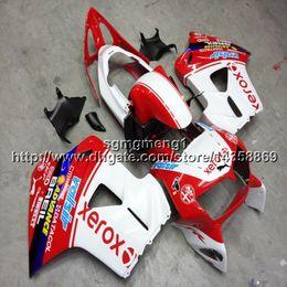 $enCountryForm.capitalKeyWord Australia - Gifts+Screws red white motorcycle article for HONDA VFR800 1998 1999 2000 2001 ABS plastic motor Fairing kit