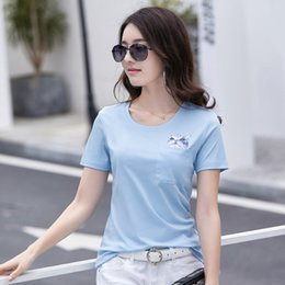 c6225722 Cute Couples T Shirts Australia - Fashion Women Cute Cat Embroidered Pocket  Couple Casual Short Sleeve